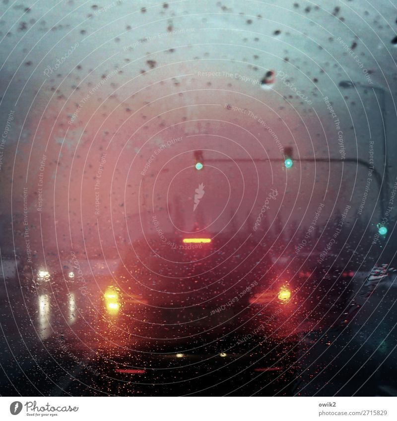 And now all of you Drops of water Sky Winter Bad weather Rain Transport Means of transport Passenger traffic Motoring Traffic jam Street Crossroads