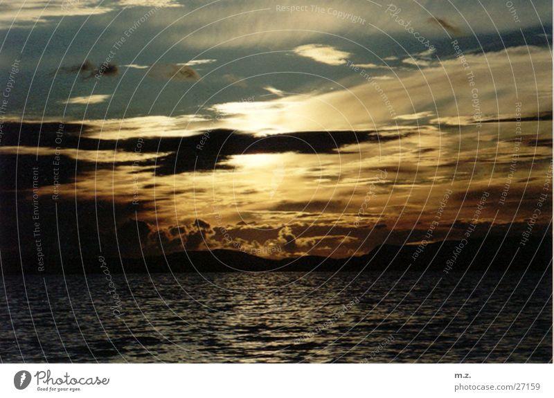 norwegian dusk Sunset Clouds Ocean . Evening Sky Twilight .fjord Norway