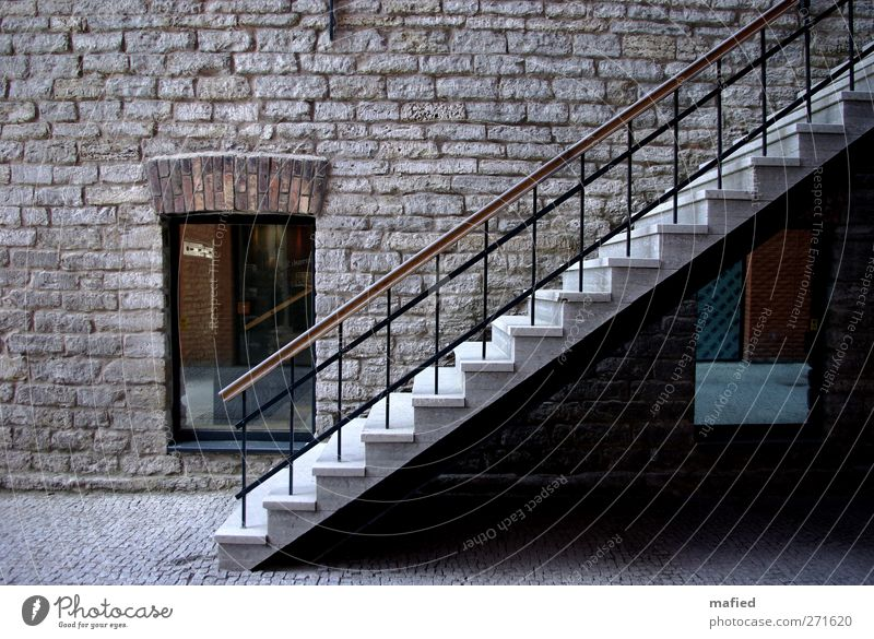 City Old White Window Black Architecture Building Gray Stone Brown Facade Metal Tourism Stairs Glass Esthetic