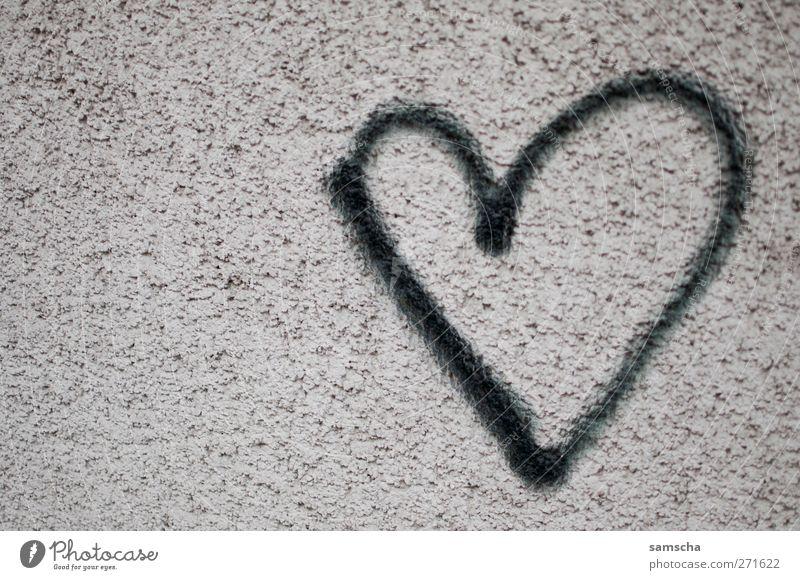 Black Love Graffiti Wall (building) Emotions Happy Wall (barrier) Stone Dream Facade Heart High-rise Romance Sign Passion Joie de vivre (Vitality)