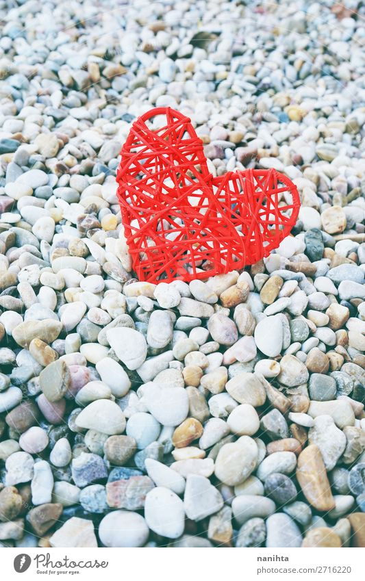 Beautiful valentine's day theme background Red Life Love Natural Emotions Family & Relations Feasts & Celebrations Style Couple Copy Space Stone Design Heart