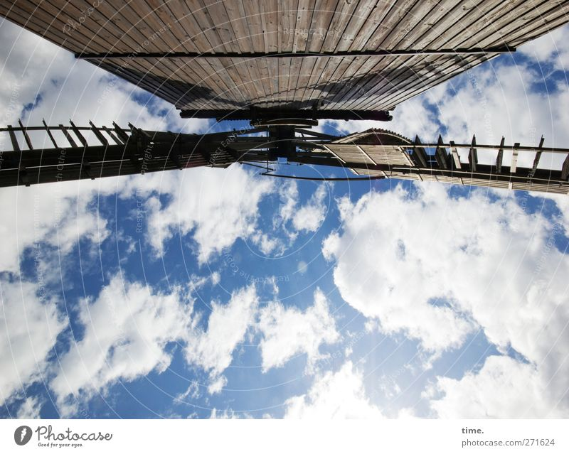 Sky Old Clouds Calm Wood Architecture Building Time Contentment Power Exceptional Design Esthetic Perspective Threat Uniqueness