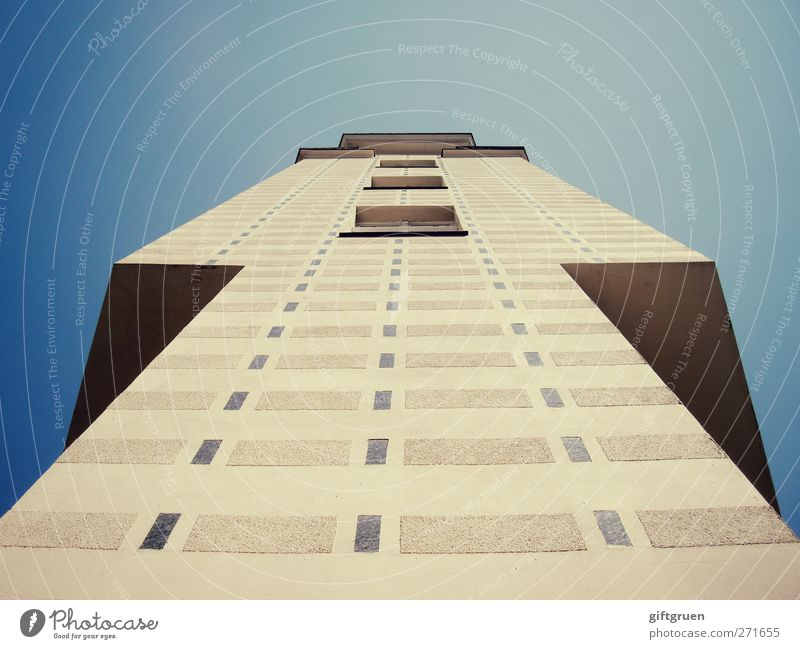 Sky Blue City House (Residential Structure) Window Wall (building) Berlin Architecture Wall (barrier) Building Line Facade Exceptional Tall Modern High-rise