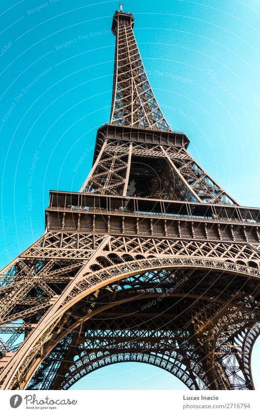 Eiffel Tower in Paris, France Sky Vacation & Travel Nature Summer Landscape Architecture Autumn Environment Building Tourism Trip Europe Historic