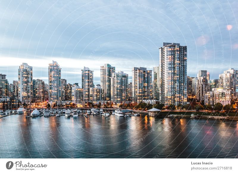 False Creek in Vancouver, Canada House (Residential Structure) Office Business Environment Nature Sky Clouds Autumn Tree Leaf River Downtown Skyline High-rise