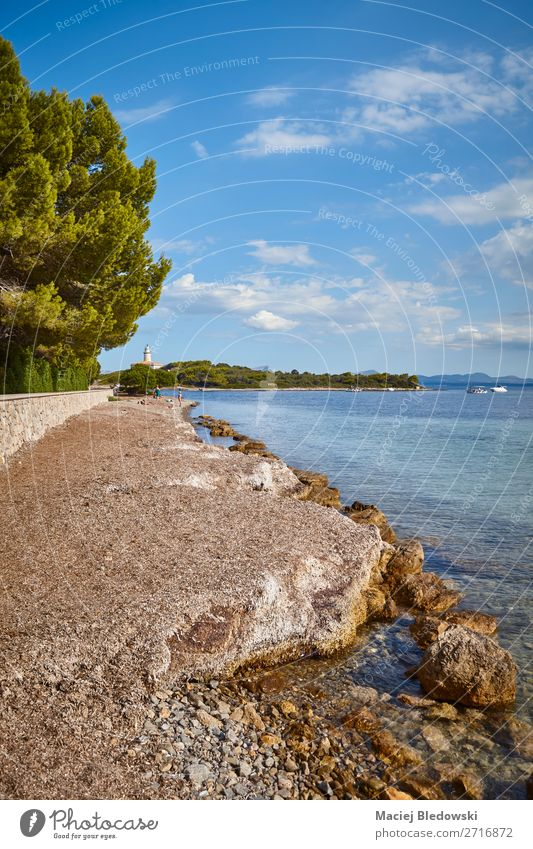 Alcanada Beach at the north coast of Mallorca, Spain. Sky Vacation & Travel Nature Summer Landscape Sun Ocean Relaxation Far-off places Coast Tourism Freedom