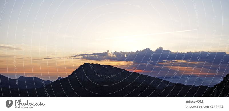 Nature Clouds Far-off places Environment Landscape Mountain Above Earth Horizon Tall Esthetic Panorama (Format) Wanderlust Majorca Wake up Mountain range