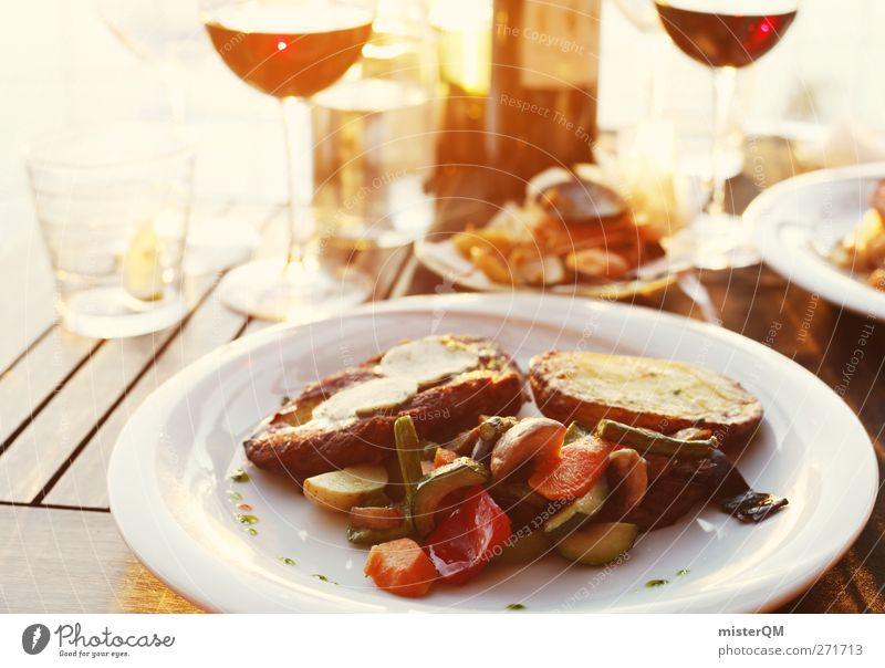 Communion. Food Esthetic Dish Nutrition Beverage Restaurant Romance Wine Bottle of wine Wine glass Plate Steak Mediterranean Vacation & Travel Vacation photo