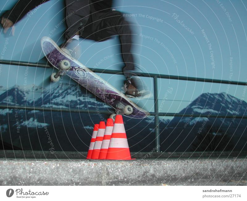 Sky Sports Jump Speed Level Skateboarding