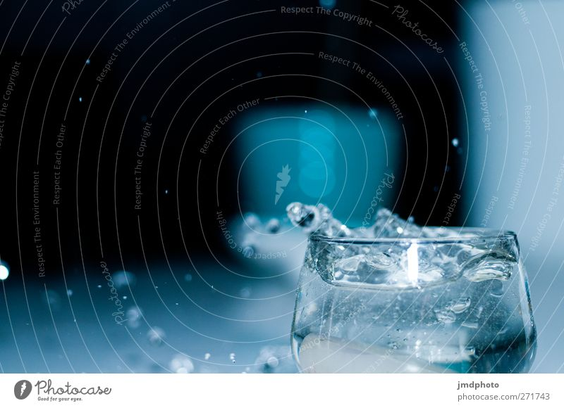 Water Relaxation Life Style Glass Elegant Drinking water Drops of water Lifestyle Beverage Future Hope Kitchen Wellness