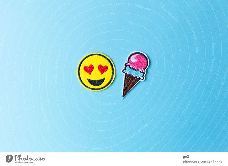 ice age Food Ice cream Nutrition Joy Summer Summer vacation Decoration Cloth Sign Heart Smiley emoji Esthetic Happiness Happy Cold Funny Cute Emotions