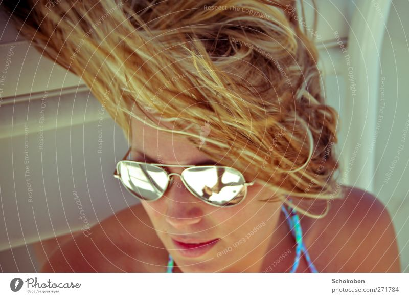 windy summer Style Design Joy Beautiful Hair and hairstyles Face Harmonious Well-being Contentment Relaxation Vacation & Travel Sightseeing Sailing Feminine