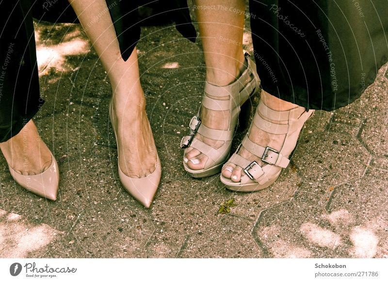 Human being Beautiful Eroticism To talk Feminine Stone Style Fashion Feet Friendship Park Footwear Elegant Contentment Stand Beautiful weather