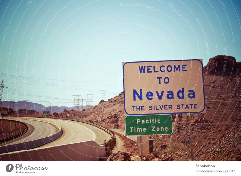 Nevada Vacation & Travel Trip Adventure Far-off places Freedom Summer Landscape Earth Cloudless sky Beautiful weather Warmth Drought Rock Mountain Canyon