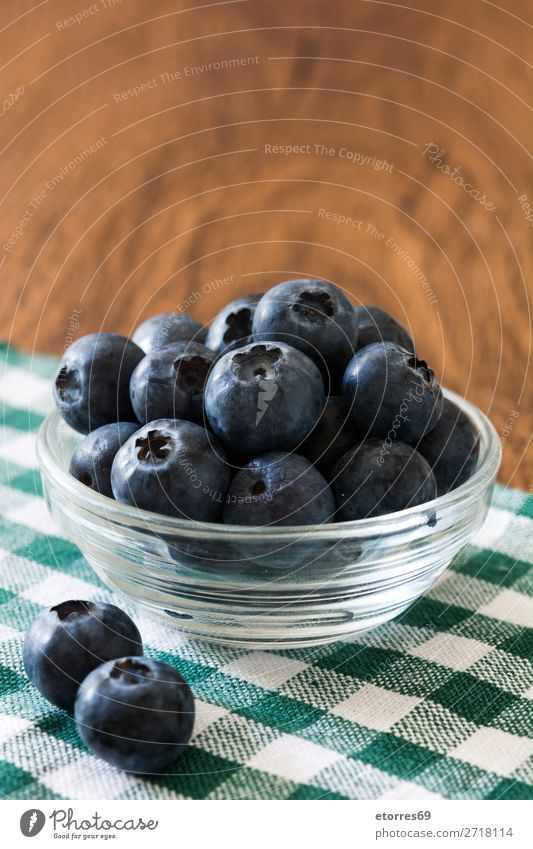 Blueberries in bowl on a rustic wooden table Healthy Eating Summer Food photograph Dish Wood Natural Fruit Nutrition Sweet Fresh Glass Table Cooking