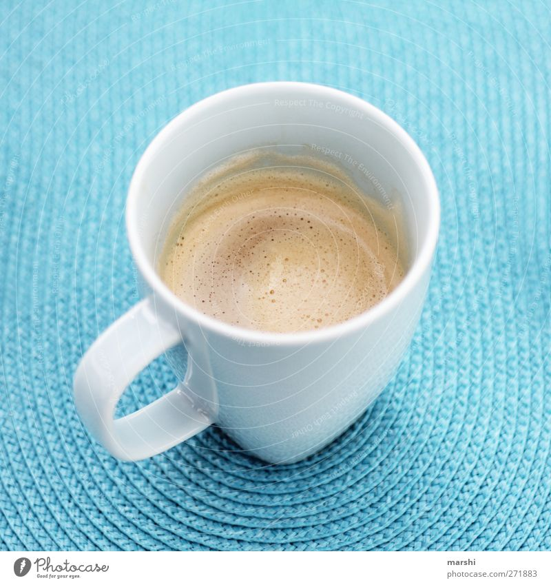 Käffsche?! Food Nutrition Beverage Drinking Hot drink Coffee Latte macchiato Espresso Blue Thirsty Coffee cup Cup Turquoise Tasty Alert Colour photo