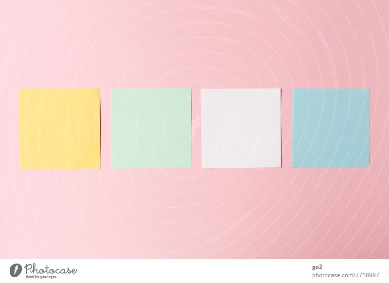 Colour Office Design Arrangement Esthetic Creativity Paper Idea Inspiration Square Stationery Office work Orderliness