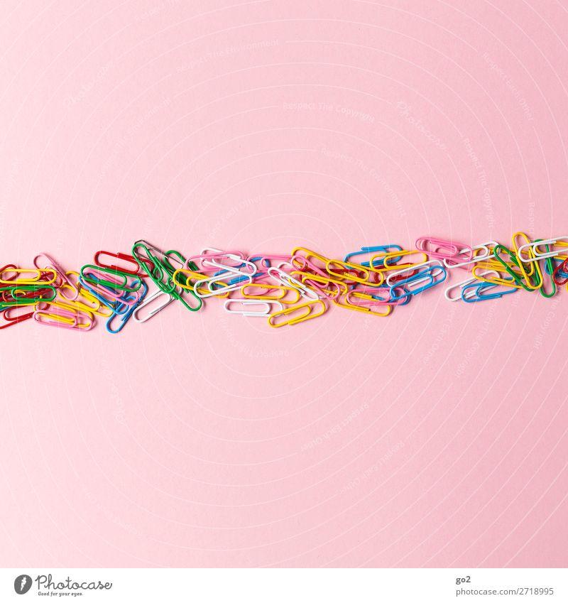 Coloured paperclips Office work Decoration Paper clip Esthetic Happiness Multicoloured Idea Uniqueness Inspiration Creativity Arrangement Attachment Versatile
