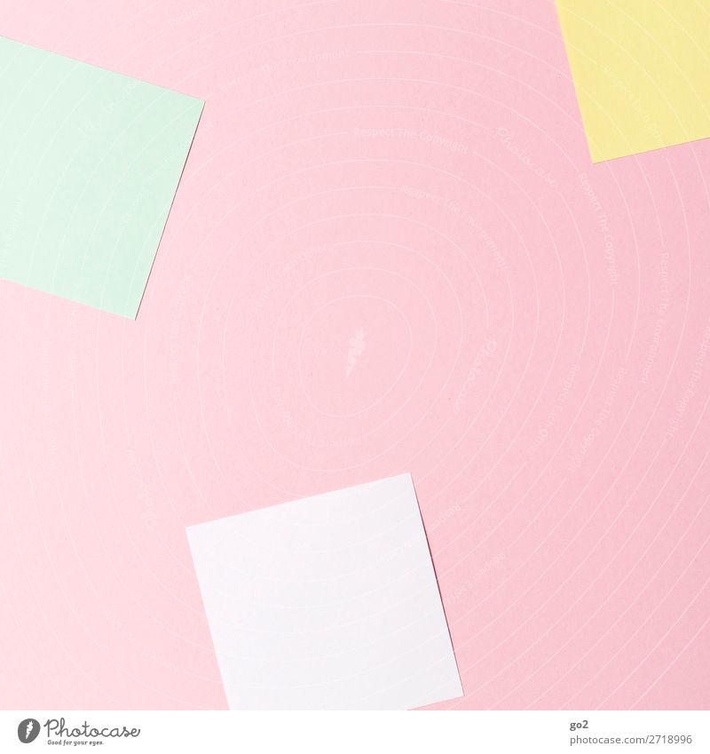 Colourful notes Office work Stationery Paper Piece of paper Esthetic Design Idea Inspiration Creativity Study Arrangement Pure Colour photo Interior shot