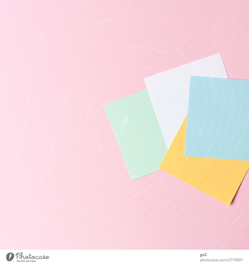 Colourful notes Office work Stationery Paper Piece of paper Esthetic Clean Orderliness Idea Inspiration Creativity Arrangement Pure Colour photo Multicoloured