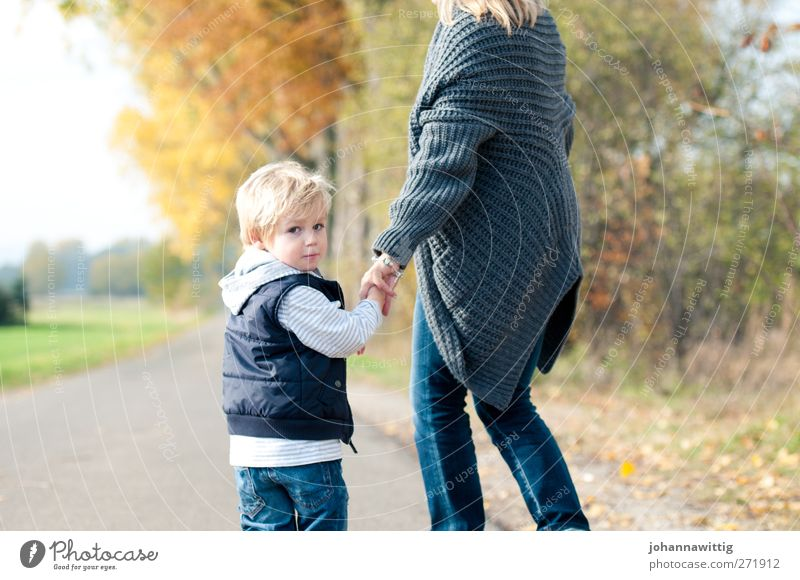 Human being Woman Child Nature Green Beautiful Tree Adults Environment Feminine Autumn Emotions Lanes & trails Together Going Blonde