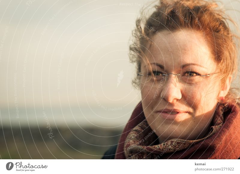Hiddensee | Sunset Ann Lifestyle Human being Feminine Young woman Youth (Young adults) Adults Head Hair and hairstyles Face Eyes Nose Mouth Lips 1 18 - 30 years
