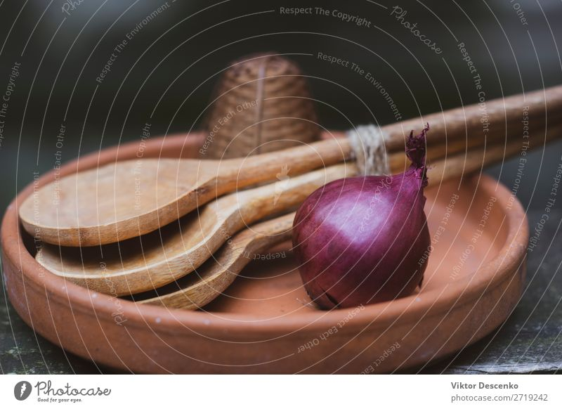 Onion with spoons in a plate Meat Vegetable Bread Soup Stew Lunch Dinner Coffee Plate Bowl Pot Spoon House (Residential Structure) Table Kitchen Tree Leaf Wood