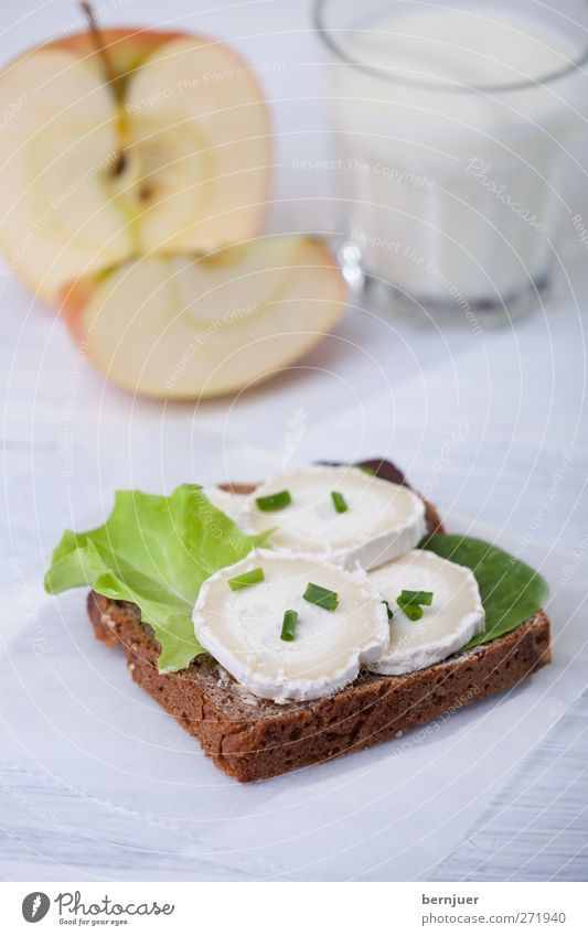 White Healthy Glass Fruit Food Good Healthy Eating Apple Breakfast Bread Wooden board Milk Cheese Salad Cheap Snack