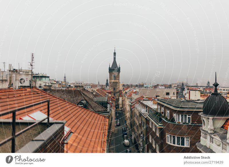 Cityscape in moody weather Skyline Tourism Town Attraction Exterior Rain Historic Infrastructure romantic Vacation & Travel Architecture Panorama (Format)