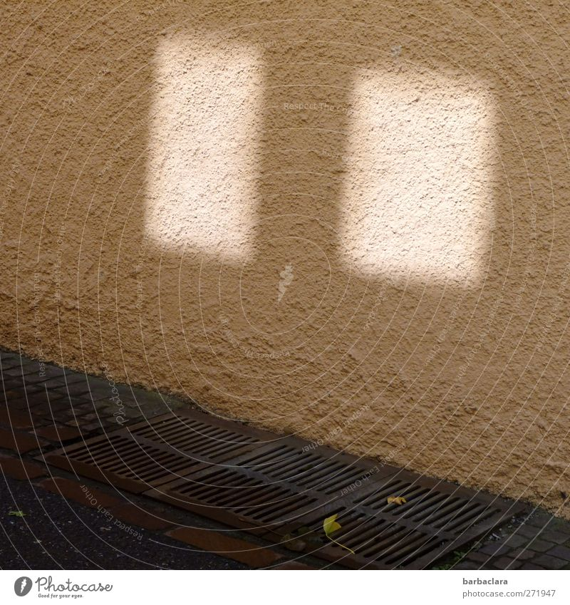 Window, somewhere House (Residential Structure) Wall (barrier) Wall (building) Street Lanes & trails Gully Paving stone Asphalt Stone Concrete Illuminate Bright