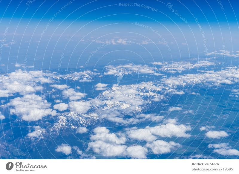Mountains ridge in clouds Range Aircraft Clouds Drone Snow Panorama (Format) Landscape Extreme Vantage point Peak scenery quadcopter White Mountaineering Remote