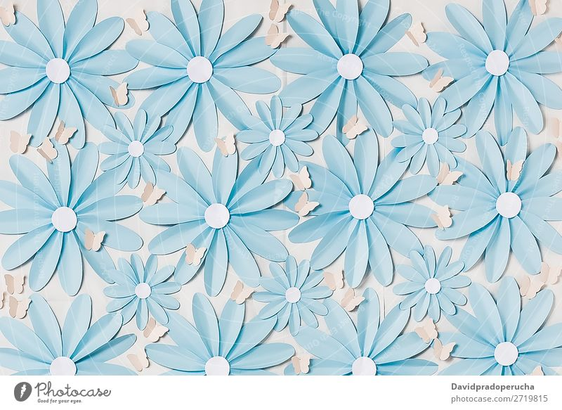Flowers background photo wall Abstract Daisy Blossom leave Self-made Paper Wallpaper Background picture