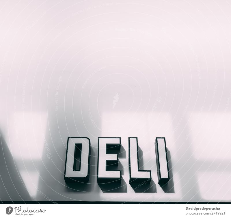 Deli shop advertising signboard Marketing Advertising Signage Banner Logo adverts Poster Markets Red Commercial Delicatessen Storefront Food Gourmet Design