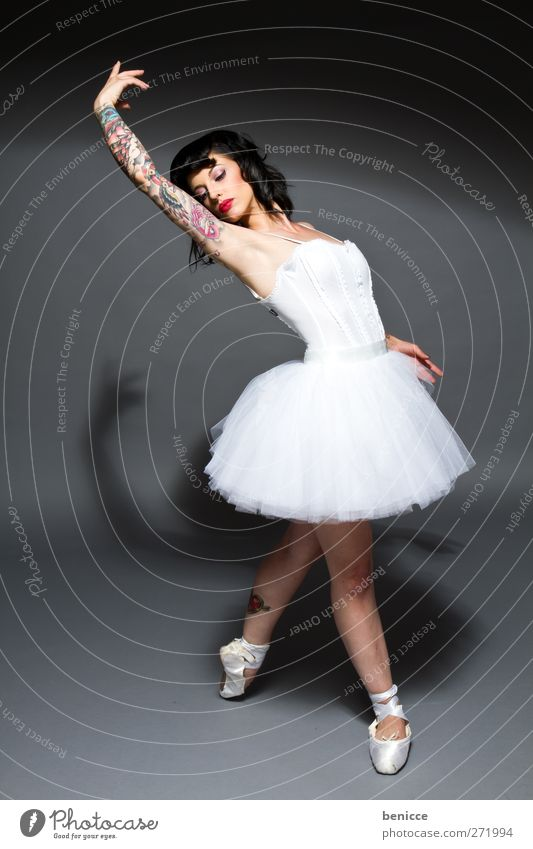 Swan Ballet Tattoo Woman Dance Account Testing & Control Converse Exceptional Dancing skirt Studio shot Portrait photograph Opera house Dress Skirt Rock music