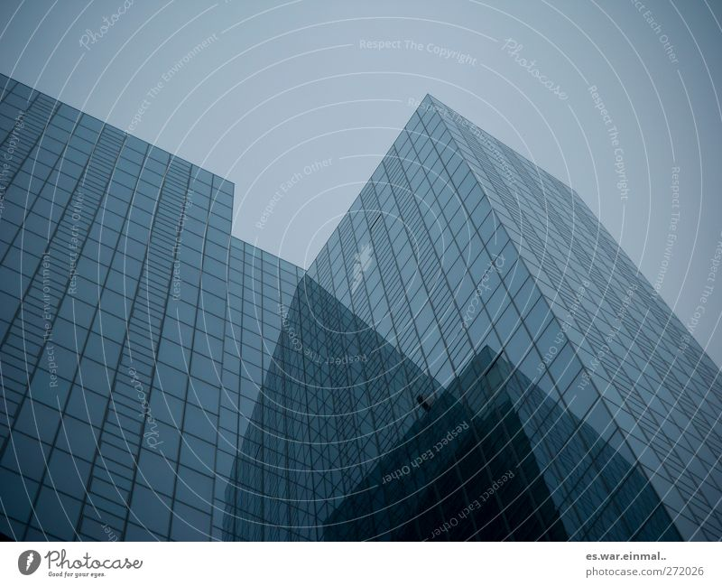crackers High-tech Building Architecture High-rise Large Infinity Town Slate blue Technology Sky Clinical Reduced Tall Colour photo