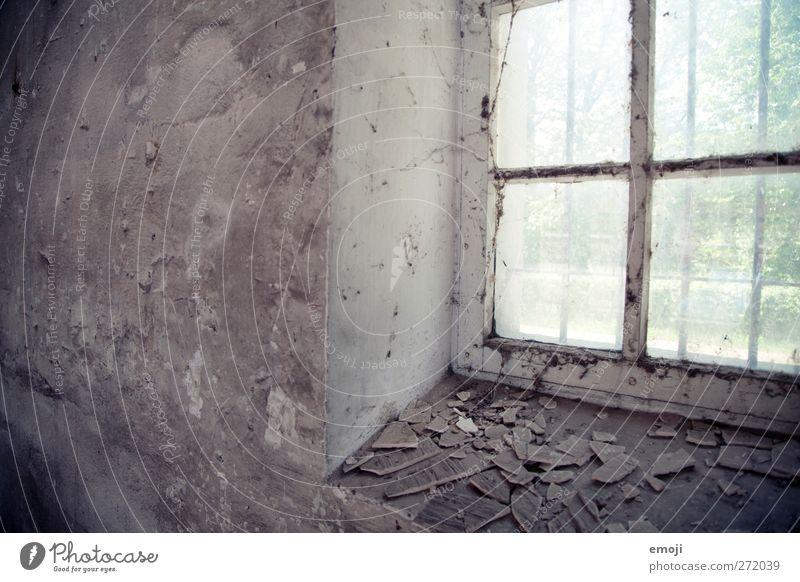Old Window Wall (building) Wall (barrier) Facade Derelict Plaster Window pane Flake off Window frame
