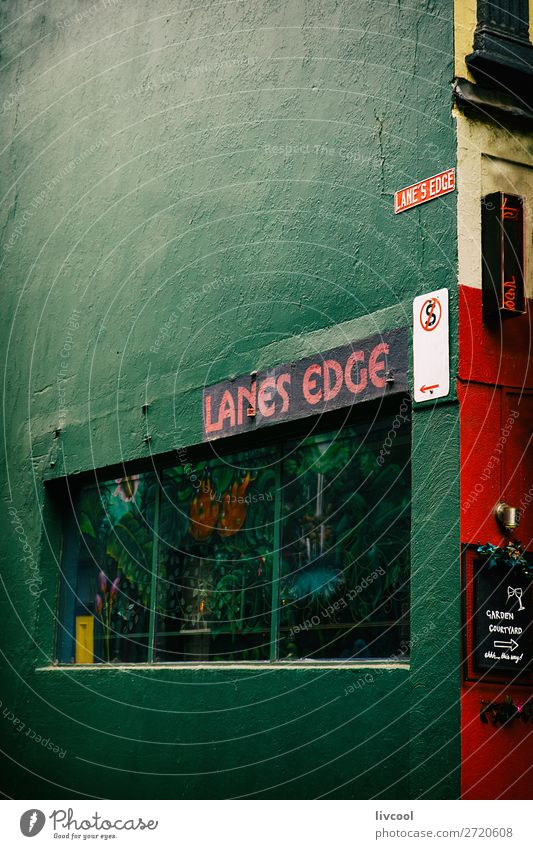 lanes edge street , melbourne Town Beautiful Green Red Dark Street Lifestyle Graffiti Style Art Tourism Design Retro Door Elegant Uniqueness