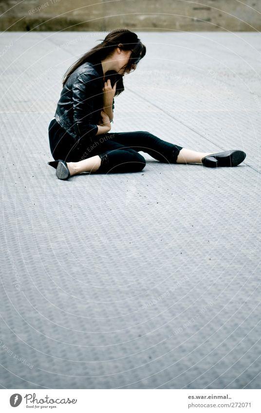 Beautiful Feminine Sadness Dream Sit Touch