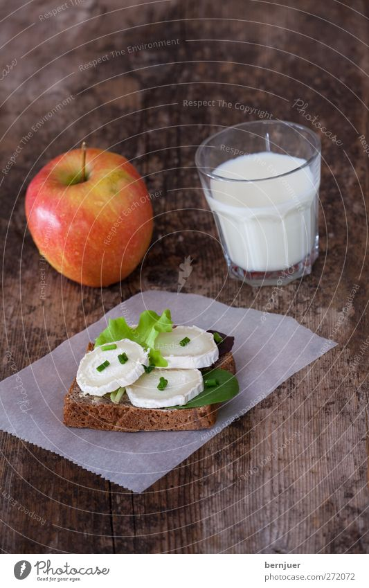 Nutrition Food Brown Glass Fruit Fresh Break Good Healthy Eating Breakfast Bread Wooden board Baked goods Milk Lettuce Cheese