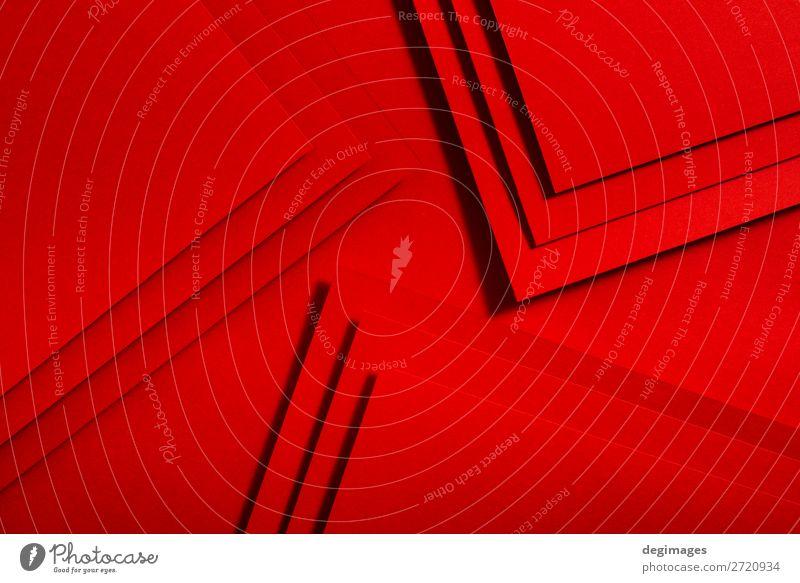 Red paper material design. Geometric unicolour shapes Design Wallpaper Craft (trade) Art Paper Line Stripe Retro Colour geometric background Consistency graphic