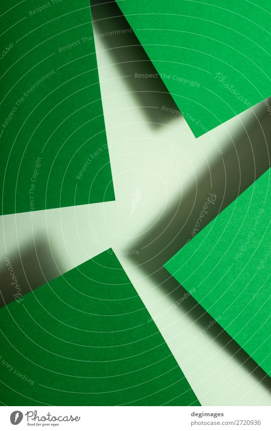 Green paper material design. Geometric unicolour shapes Design Wallpaper Craft (trade) Art Paper Line Stripe Retro Colour geometric background Consistency