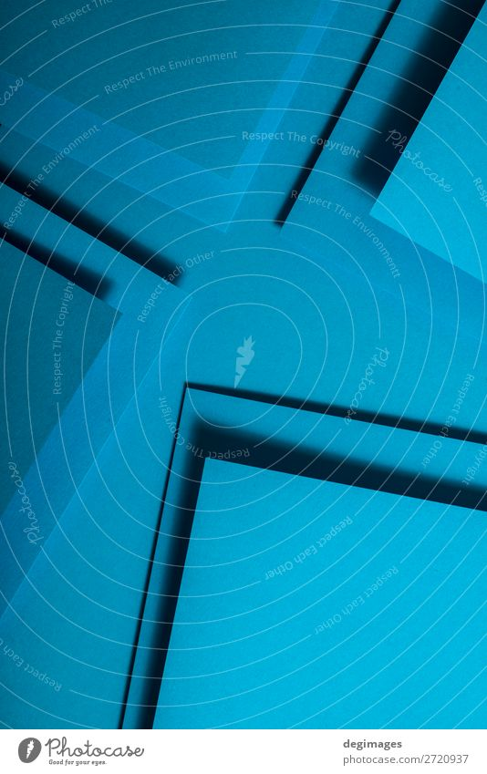 Blue paper material design. Geometric unicolour shapes Design Wallpaper Craft (trade) Art Paper Line Stripe Retro Colour geometric background Consistency
