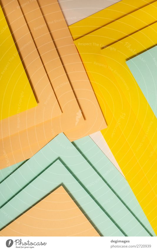 Colorful polygon paper design. Pastel tones geometric shapes Design Wallpaper Art Paper Stripe Retro Blue Yellow Green Pink Colour background graphic ine