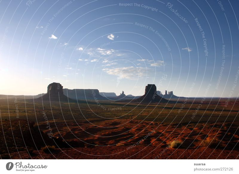 Monument Valley Environment Nature Landscape Elements Earth Sand Air Sky Clouds Sunlight Summer Beautiful weather Warmth Drought Rock Canyon Enthusiasm Euphoria