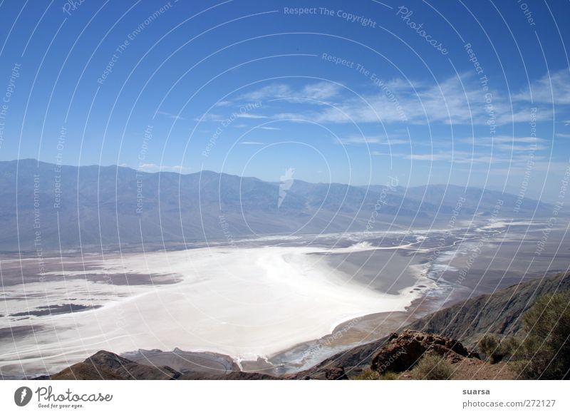 Death Valley Nature Landscape Elements Sky Climate Beautiful weather Drought USA California Nevada National Park Calm Fear Desert Salt Mountain below sea level