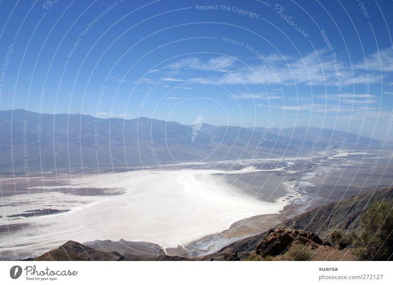 Sky Nature Blue White Calm Landscape Death Mountain Fear Climate Elements Beautiful weather USA Desert Hot Americas