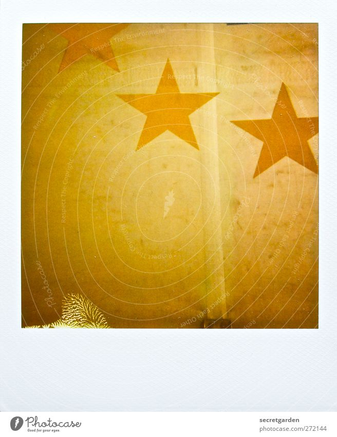 White Yellow Gold Retro Star (Symbol) Sign Patch Trashy Nostalgia Circus Golden yellow Constellation 3 Defective Tarpaulin Polaroid