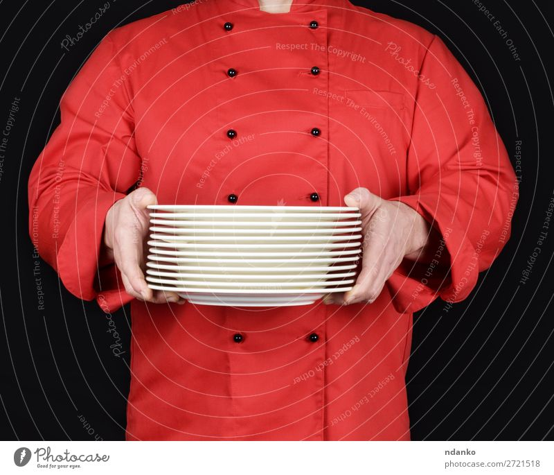 Human being Man White Hand Dark Black Adults Copy Space Kitchen Profession Indicate Restaurant Plate Stack Guy Hold