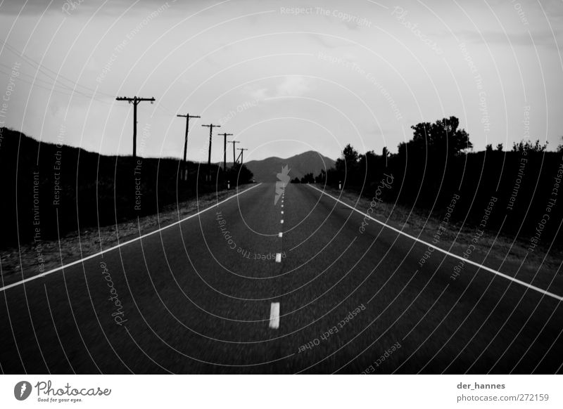 Street Horizon Transport Cable Driving Hill Country road