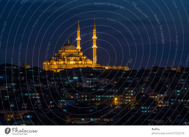 Yavuz Sultan Selim Mosque Vacation & Travel Tourism Sightseeing City trip Night life Closing time Work of art Architecture Landscape Air Night sky Sunrise
